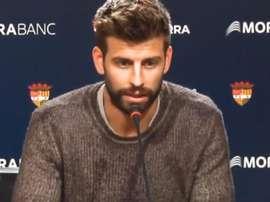 Piqué abordou vários assuntos da atualidade na apresentação do projeto com o Andorra. Captura