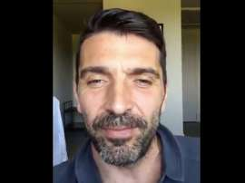 Capture de Buffon pendant son message à Lahm. Twitter
