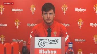 Guille Rosas reconoció que en el vestuario del Sporting se respira ilusión. Twitter/RealSporting