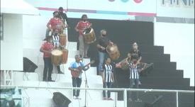 Hinchas de Central Córdoba rindieron homenaje a Maradona. Captura/ESPN