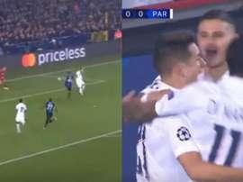 Icardi segna il goal del vantaggio. Movistar+