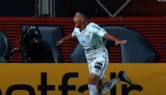 Ângelo Gabriel hizo historia en la Copa Libertadores. Captura/CONMEBOLTV