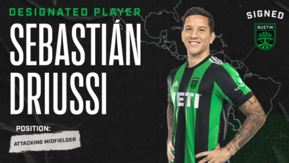 Driussi ya es del Austin FC. Twitter/AustinFC