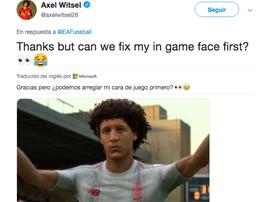 Witsel troleó a EA Sports. Witsel