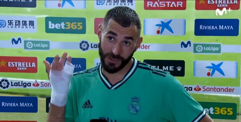 Incroyable geste de Karim Benzema contre l'Espanyol. Capture/MovistarLaLiga