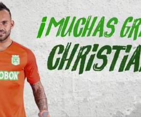 Christian Vargas abandona Atlético Nacional. AtleticoNacional