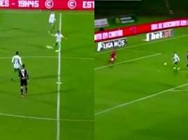 Coentrao dio un pase de gol desde más de 40 metros. Captura