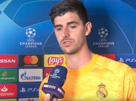 Courtois analyse la défaite de son équipe. Captura/beINSports