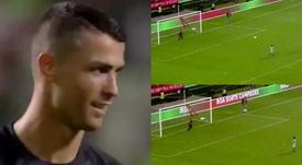 El hijo de Cristiano anotó un auténtico golazo. Captura/Portugal