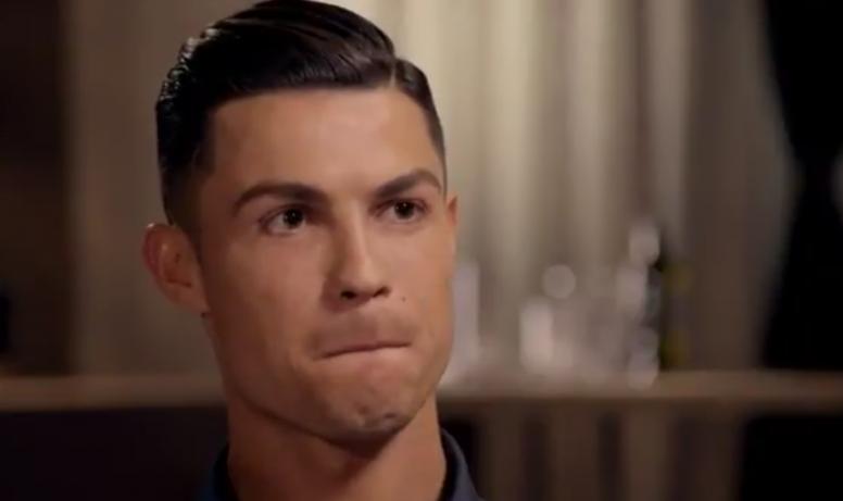 Cristiano Ronaldo, como você nunca viu antes. Captura/ITV