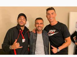 Neymar e Cristiano juntos num novo anúncio. Instagram/RickyRegufe