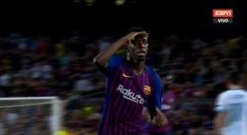 Dembele is back on form. Screenshot/ESPN