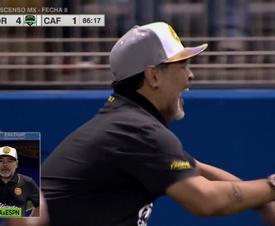Estreno de Maradona con victoria con Dorados. Captura/ESPN