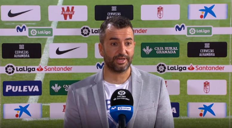 Diego Martínez cree que merecieron empatar al Madrid. Captura/Movistar