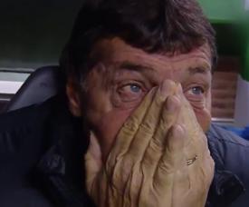 Falcini lloró tras recibir el cariño del público. Captura/TyCSports