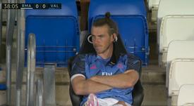 Bale, zangado no banco de reservas. Captura/LaLiga
