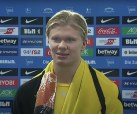 Haaland spoke about Moukoko's debut. Screenshot/ZDF