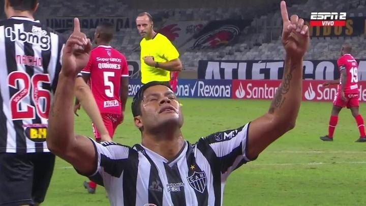 Hulk se reinventa no Atlético-MG: de reserva a artilheiro da equipe. Captura/ESPN