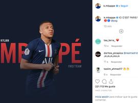 Le message de Mbappé, une piste sur son avenir ? Instagram/K.Mbappe