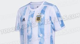 Filtran la camiseta de Argentina para las Eliminatorias y la Copa América 2021. TodoSobreCamisetas