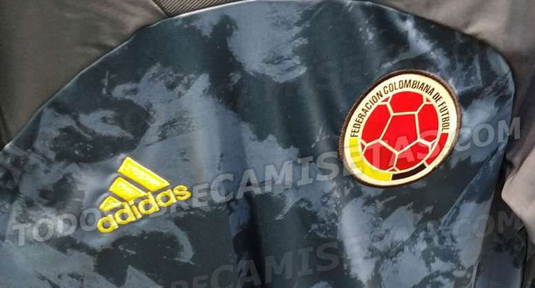 Filtran la camiseta de Colombia. Captura/TodoSobreCamisetas