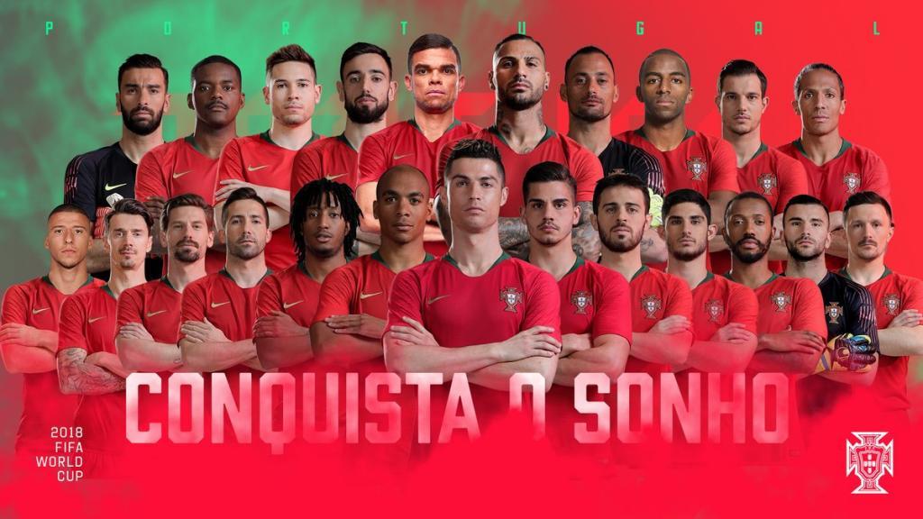 Fernando Santos revela os 23 convocados para o Mundial2018