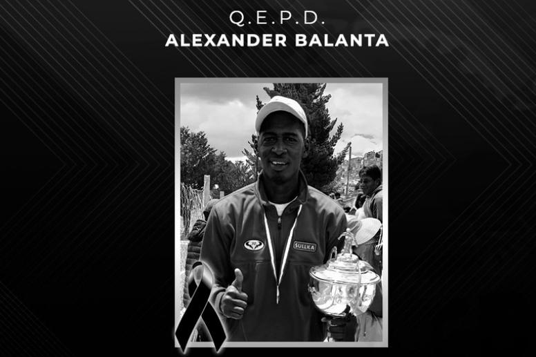 Falleció Alexander Balanta debido al COVID-19. Twitter/FBF_BO