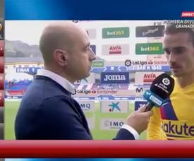 Griezmann precisa de tempo para se entender com Leo Messi e Luis Suárez. Captura/GOL