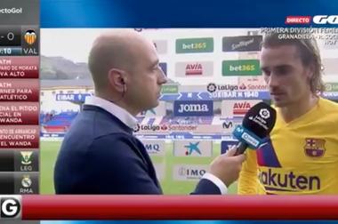 Griezmann parla della connessione con Messi e Suarez. Captura/GOL