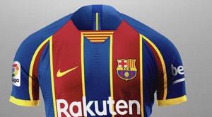 Suposta nova camisa do Barça para 2020-21. Captura/FootyHeadlines