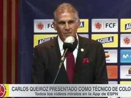 Queiroz, nouveau sélectionneur de la Colombie. Capture/ESPN