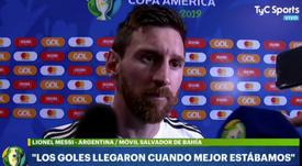 Messi cree que Argentina mereció más. Captura/TyCSports