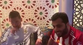 El jeque del Almería sueña con tener a Messi. Captura/TurkiAl-Sheikh