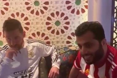 O sheik de Almeria sonha com Messi no time. Captura/TurkiAl-Sheikh