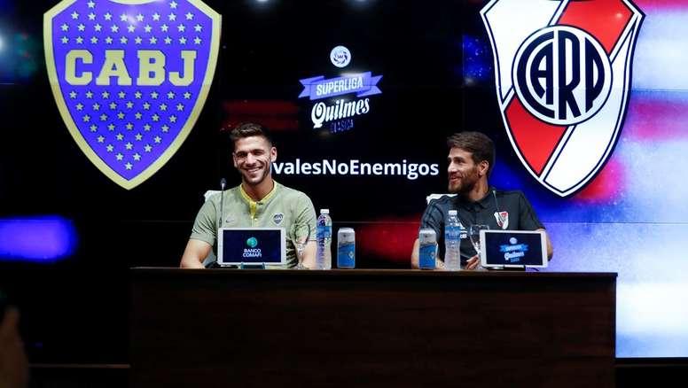 Magallán y Ponzio hablaron en la previa del 'Superclásico'. EFE