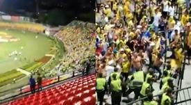 Falleció un hincha de Bucaramanga al caer desde la tribuna del estadio. Captura