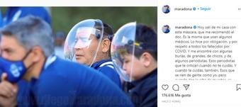 Maradona se calentó y mucho. Instagram/Maradona