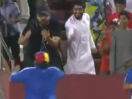 Maradona se encaró con la grada. Captura