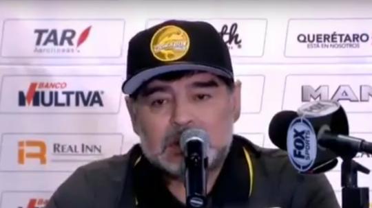 Mensaje insólito de Maradona. Captura/ESPN