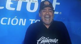 Maradona, en estado puro. Captura/ESPN