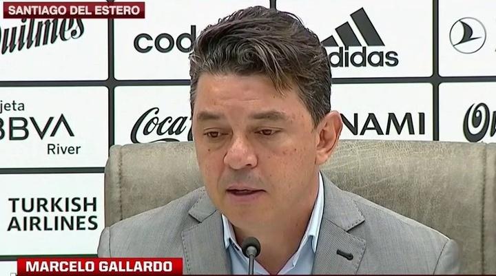 Gallardo ya tiene ganas de 'Superclásico'. Captura/ESPN