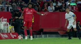 Marcelo é dúvida para o clássico contra o Atlético. Captura/Movistar