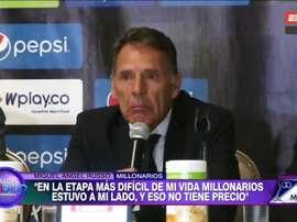 Russo dijo adiós a Millonarios. Captura/ESPN