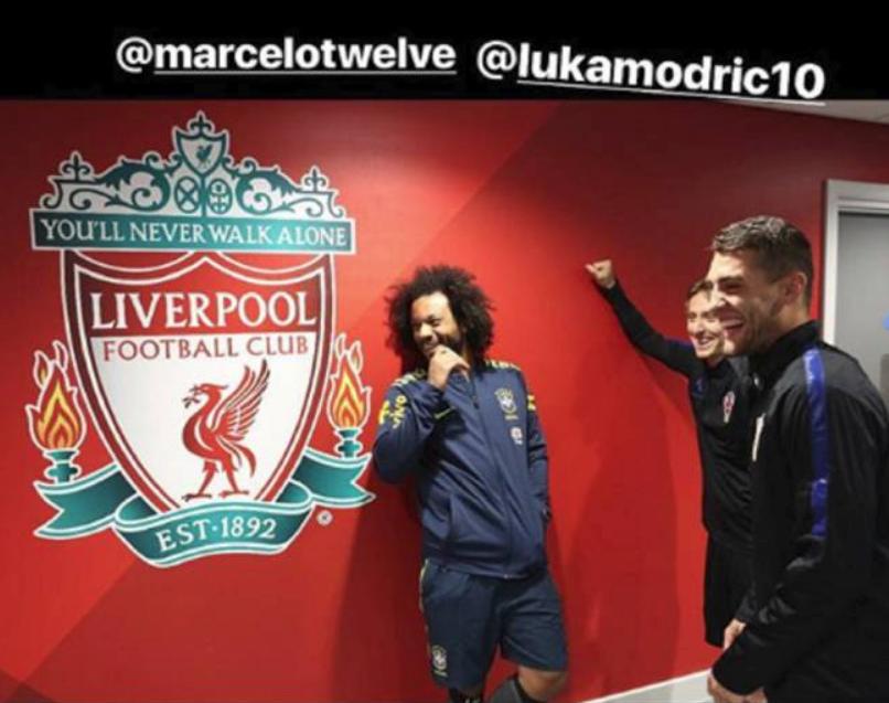 La guasa de Marcelo, Modric y Kovacic en Anfield