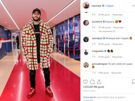 Icardi reagiu a roupa extravagante de Neymar. Instagram/Neymar