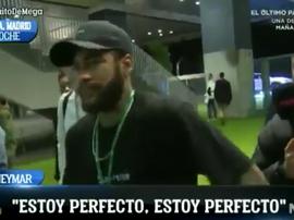 Neymar é otimista sobre estar pronto a tempo de visitar o Bernabéu. Captura/ElChiringuito