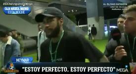 Neymar, listo para jugar contra el Madrid. Captura/ElChiringuito
