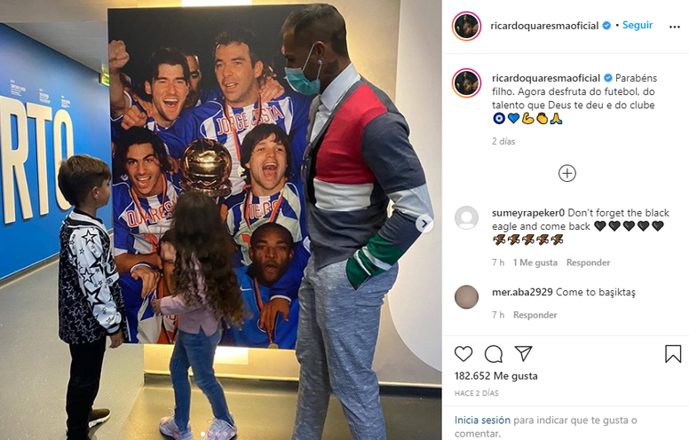 Quaresma's son has joined Porto. Instagram/Ricardoquaresmaoficial