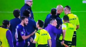 Ribéry é punido por empurrar membro da arbitragem. Captura/beINSports