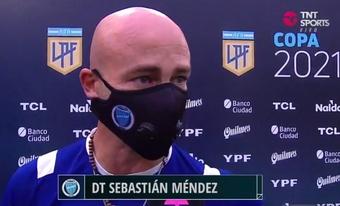 Sebastián Méndez se acordó del 'Morro' García. Captura/TNTSports